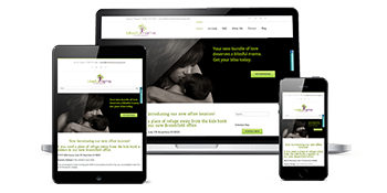 Blissful Mama Massage website design by Pint Sized Sites